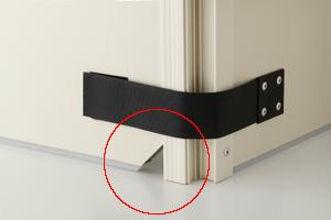 岐阜プラスチック 防音ボックス FX-1000 配線用切り欠き部
