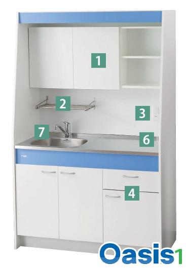 亀井製作所 オフィス用キッチン「オアシス1(Oasis1)」 イメージ