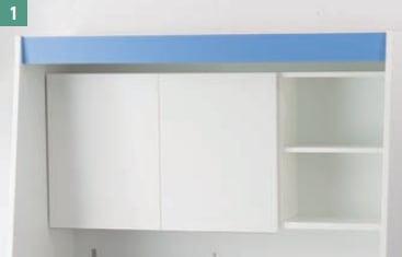 亀井製作所 オフィス用キッチン「オアシス1(Oasis1)」 開き扉収納