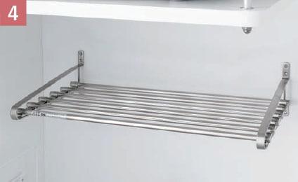 耐久性に優れた金属製の水切棚