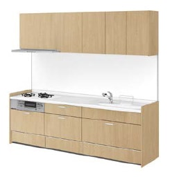 リクシル システムキッチン アレスタ(ALESTA) I型 扉カラー プレーンオーク:NC7[D]