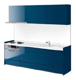 リクシル システムキッチン アレスタ(ALESTA) I型 扉カラー クラシックブルー:BC8[H]