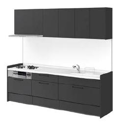 リクシル システムキッチン アレスタ(ALESTA) I型 扉カラー ソリッドブラック:K63[H]