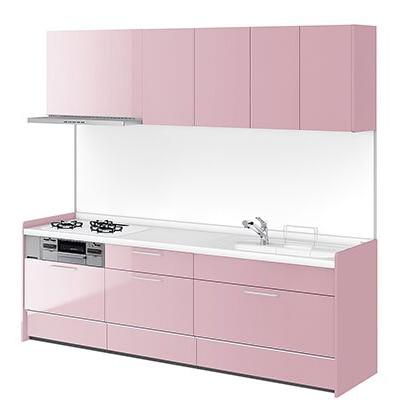 リクシル システムキッチン アレスタ(ALESTA) I型 扉カラー ペールピンク:P62[F]
