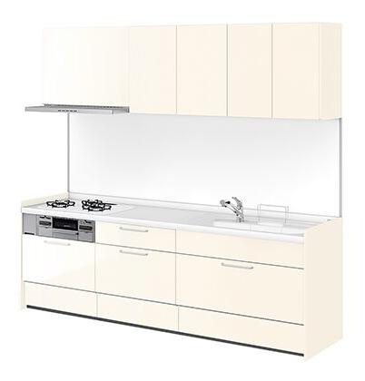 リクシル システムキッチン アレスタ(ALESTA) I型 扉カラー ペールホワイト:W62[F]