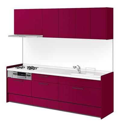 リクシル システムキッチン アレスタ(ALESTA) I型 扉カラー ソリッドレッド:R63[H]