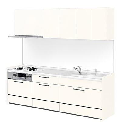 リクシル システムキッチン アレスタ(ALESTA) I型 扉カラー ソリッドホワイト:W63[H]