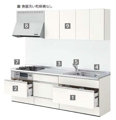 リクシル システムキッチン アレスタ(ALESTA) 基本プラン 食器洗い乾燥機 イメージ