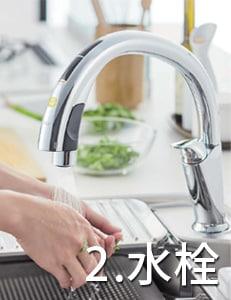 リクシル システムキッチン アレスタ(ALESTA) 特長 ハンズフリー水栓