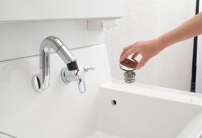 INAX 洗面化粧台 Piara  新手間なし排水口 イメージ