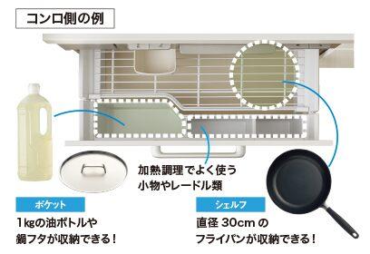 LIXIL システムキッチン Shiera(シエラ) アシストポケット