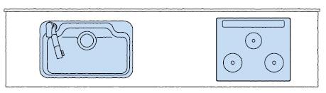 LIXIL システムキッチン Shiera(シエラ) 左シンク 図面
