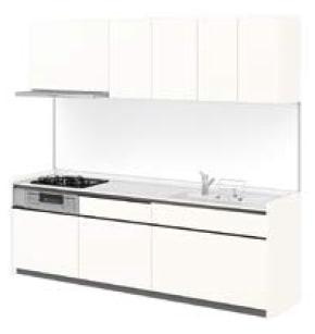 LIXIL システムキッチン Shiera S(シエラ S) ソリッドホワイト