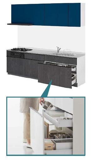 LIXIL システムキッチン Shiera S(シエラS) 基本プラン イメージ