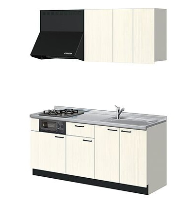 LIXIL コンパクトキッチン Tio(ティオ) ホワイトグレイン