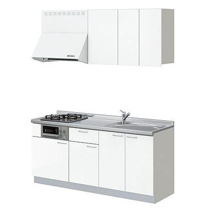 LIXIL コンパクトキッチン Tio(ティオ) スムースホワイト