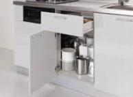 LIXIL コンパクトキッチン Tio(ティオ) 調理台下1段引き出し(樹脂引出し) イメージ