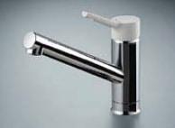 LIXIL コンパクトキッチン Tio(ティオ) シングルレバー水栓ノルマーレS・エコハンドル イメージ