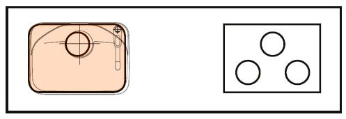 LIXIL コンパクトキッチン Tio(ティオ) 左シンク 図面