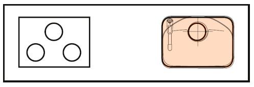 LIXIL コンパクトキッチン Tio(ティオ) 右シンク 図面