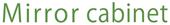 Mirror cabinet logo