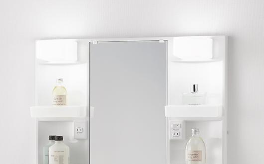 ノーリツ 洗面化粧台 シャンピーヌ 1面鏡 LED照明 イメージ