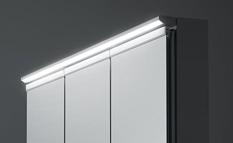 TOTO 洗面化粧台 オクターブ 化粧鏡 ワイドLED照明 イメージ