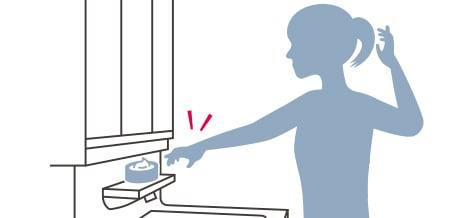 TOTO 洗面化粧台 オクターブ スマート棚 イメージ