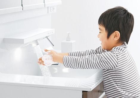 TOTO 洗面化粧台 オクターブ 自動水栓 イメージ2