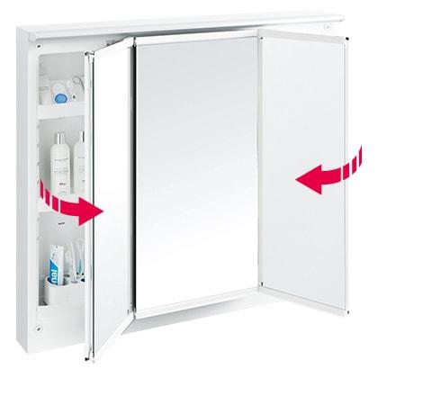 TOTO 洗面化粧台 オクターブ 化粧鏡 スウイング三面鏡 イメージ2