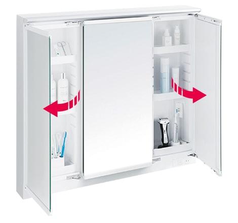 TOTO 洗面化粧台 オクターブ 化粧鏡 スウイング三面鏡 イメージ3