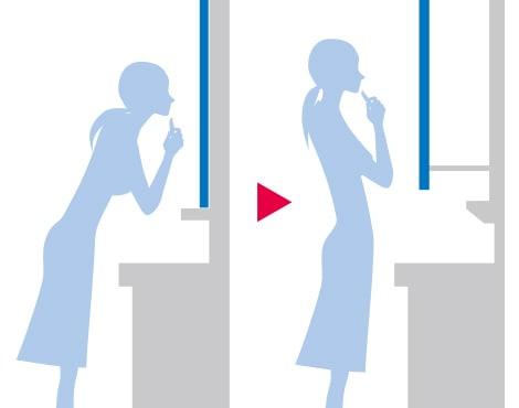 TOTO 洗面化粧台 オクターブ 化粧鏡 スウイング三面鏡 イメージ4