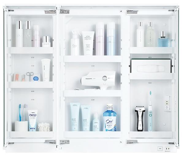 TOTO 洗面化粧台 オクターブ 化粧鏡 鏡裏収納 イメージ1