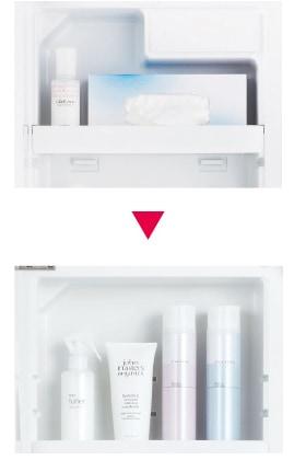 TOTO 洗面化粧台 Octave 化粧鏡 鏡裏収納 イメージ2