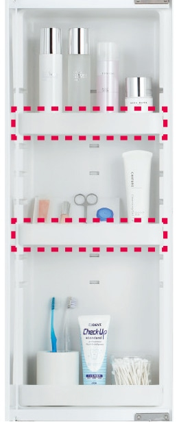 TOTO 洗面化粧台 オクターブ 化粧鏡 鏡裏収納 イメージ3