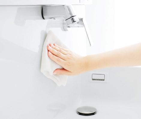 TOTO 洗面化粧台 オクターブスリム 汚れにくく、お手入れもラクラクのシンプル水栓