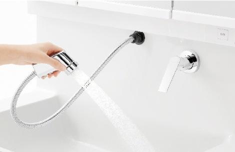 TOTO 洗面化粧台 オクターブスリム 2パターンの吐水