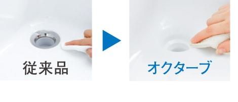 TOTO 洗面化粧台 オクターブスリム スッキリ排水口