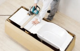 TOTO 洗面化粧台 オクターブスリム 空間にあわせて、ぴったりサイズにカット可能
