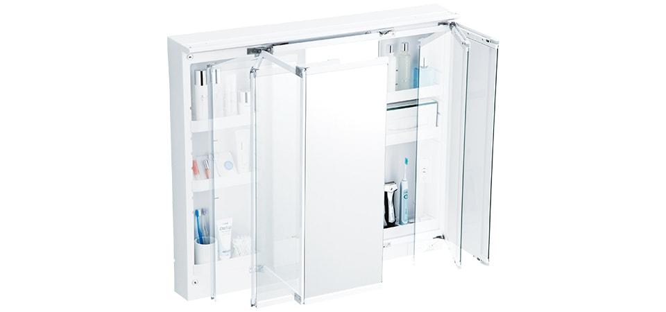 TOTO 洗面化粧台 オクターブスリム スウイング三面鏡 イメージ1