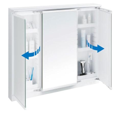 TOTO 洗面化粧台 オクターブスリム スウイング三面鏡 イメージ5