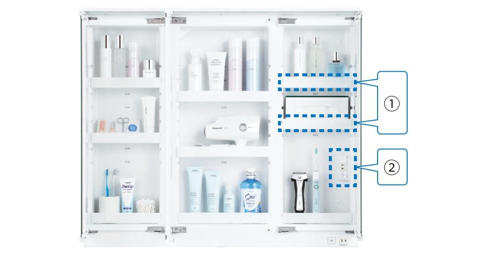 TOTO 洗面化粧台 オクターブスリム 鏡裏収納