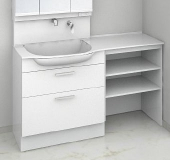 TOTO 洗面化粧台 オクターブスリム 収納キャビネット 2段引き出し+オープンキャビネット