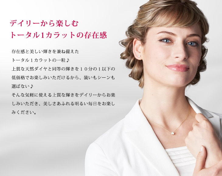 【EVER BRILLIANCE】K18WG/YG 0.5ct 一粒 スタッドピアス