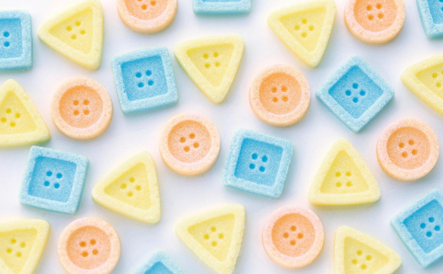 物語のある砂糖,ボタン