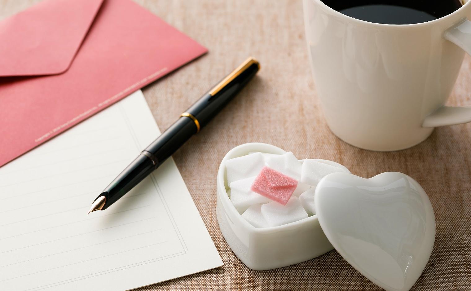 デザインシュガー,物語のある砂糖,かわいい,可愛い,角砂糖,手紙,レター,Letter