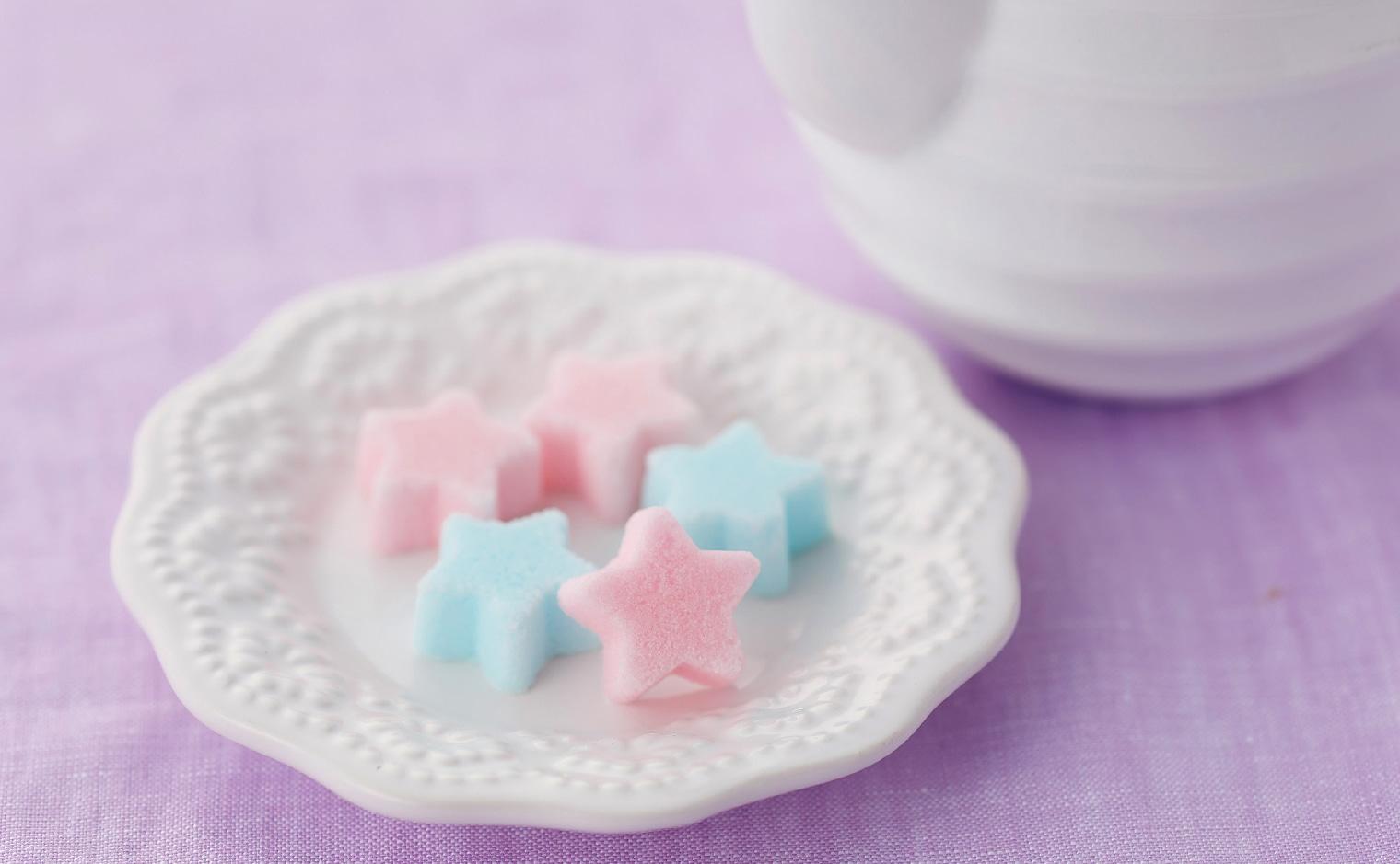デザインシュガー,物語のある砂糖,かわいい,可愛い,角砂糖,ふたご星,星,スター,カラー