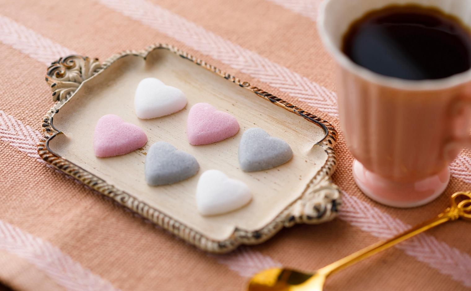 デザインシュガー,物語のある砂糖,かわいい,可愛い,角砂糖,ウィッチハート,ハート,ハートシュガー