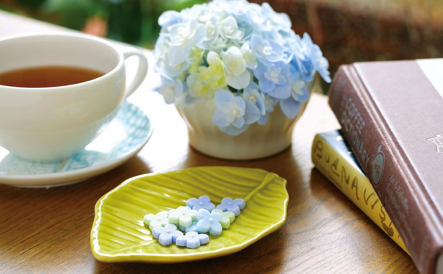 デザインシュガー,物語のある砂糖,かわいい,可愛い,角砂糖,紫陽花,あじさい,小路,梅雨,初夏