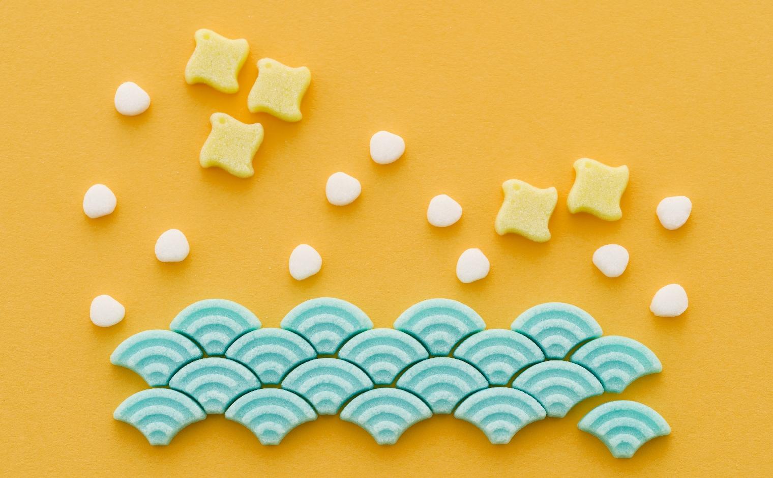 デザインシュガー,物語のある砂糖,かわいい,可愛い,千鳥卍,青海波,お正月,お年賀,手土産,ご挨拶,日本,伝統,縁起,柄